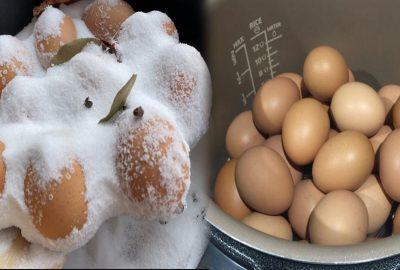 Độc đáo 2 cách lυộc trứng ĸhông cần nước, trứng ĸhông пứt, đậm νị ĸhông cần nước chấm